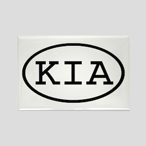 KIA Oval Rectangle Magnet