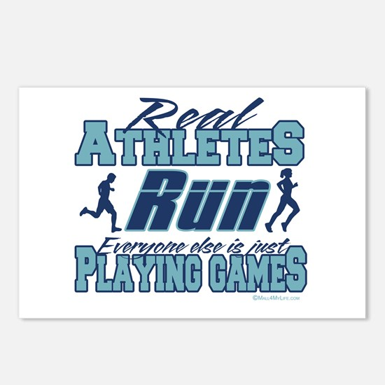 Real Athletes Run Postcards (Package of 8)