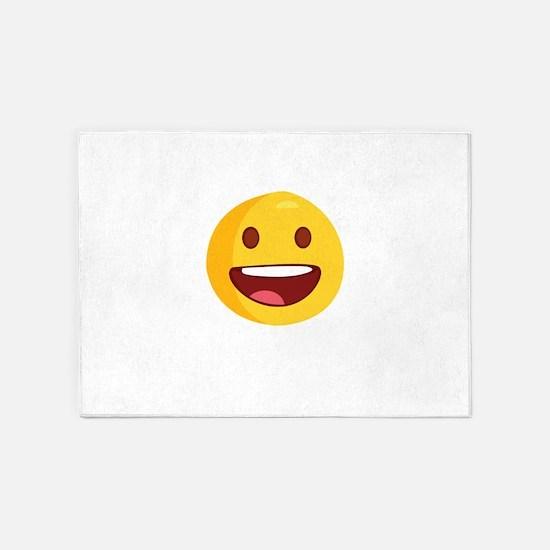 smileys avatar 5'x7'Area Rug
