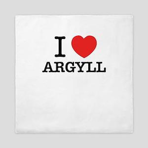 I Love ARGYLL Queen Duvet