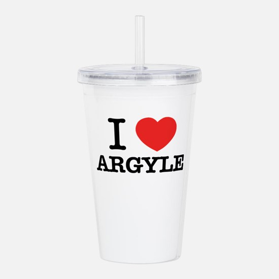 I Love ARGYLE Acrylic Double-wall Tumbler