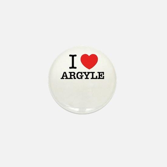 I Love ARGYLE Mini Button