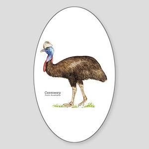 Cassowary Australian Bird Oval Sticker