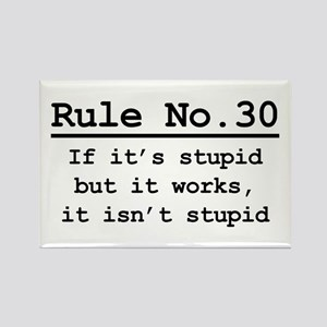 Rule No. 30 Rectangle Magnet