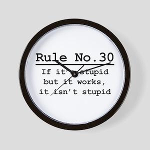 Rule No. 30 Wall Clock
