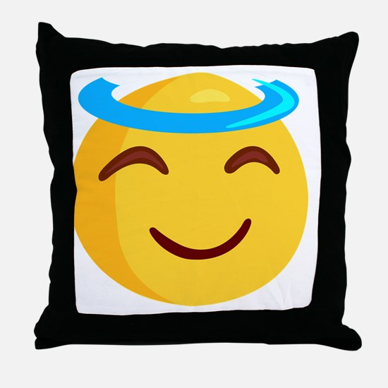 Cute Smileys Throw Pillow