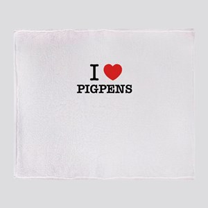 I Love PIGPENS Throw Blanket