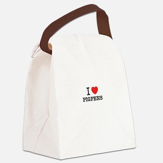I Love PIGPENS Canvas Lunch Bag