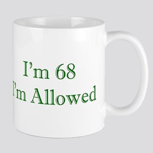 68 I'm Allowed 3 Green Mugs