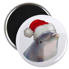 Christmas Santa Dolphin 2.25