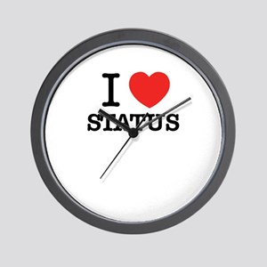 I Love STATUS Wall Clock