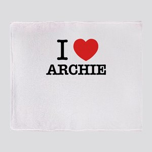 I Love ARCHIE Throw Blanket