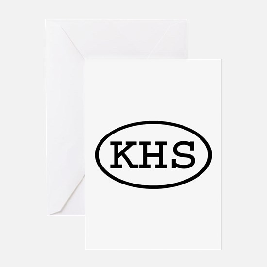 KHS Oval Greeting Card