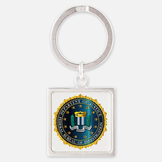 Cute Fbi seal Square Keychain
