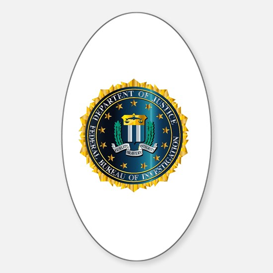 Cute Fbi Sticker (Oval)