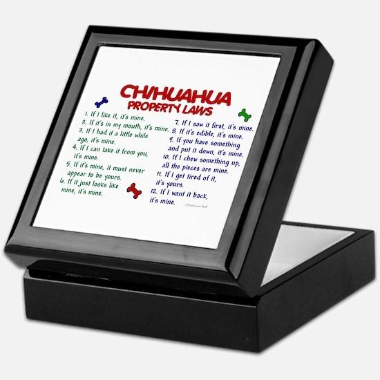 Chihuahua Property Laws 2 Keepsake Box
