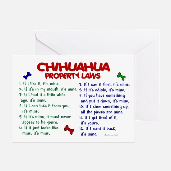 Chihuahua Property Laws 2 Greeting Card