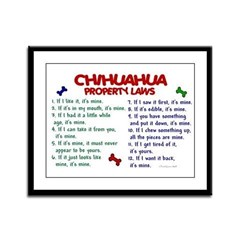 Chihuahua Property Laws 2 Framed Panel Print