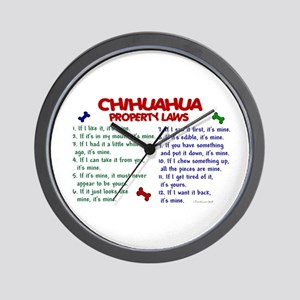 Chihuahua Property Laws 2 Wall Clock