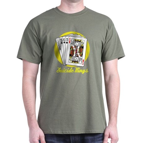 Suicide Kings Tee with Yellow Background