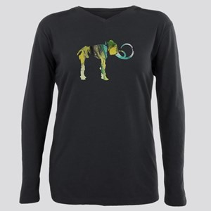 Woolly mammoth Plus Size Long Sleeve Tee