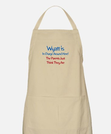 Wyatt Is In Charge BBQ Apron
