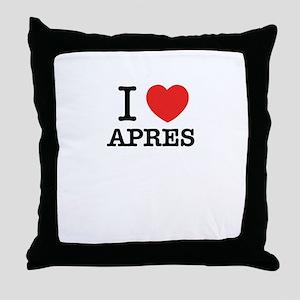 I Love APRES Throw Pillow