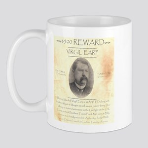 Virgil Earp $500 Reward Mug