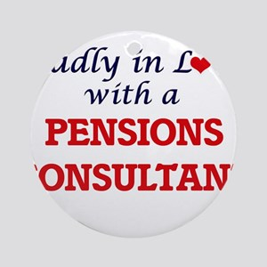 Madly in love with a Pensions Consu Round Ornament