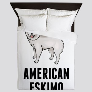 American Eskimo Queen Duvet