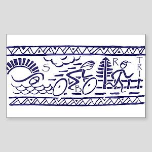 BLUE TRI-BAND Rectangle Sticker