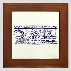 BLUE TRI-BAND Framed Tile