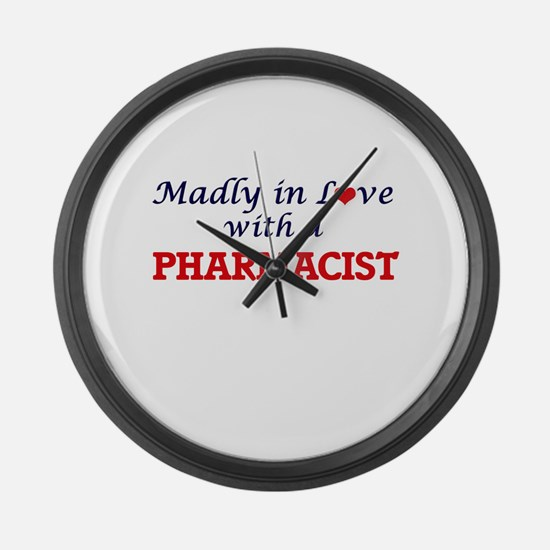 Madly in love with a Pharmacist Large Wall Clock