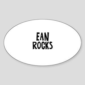 Ean Rocks Oval Sticker