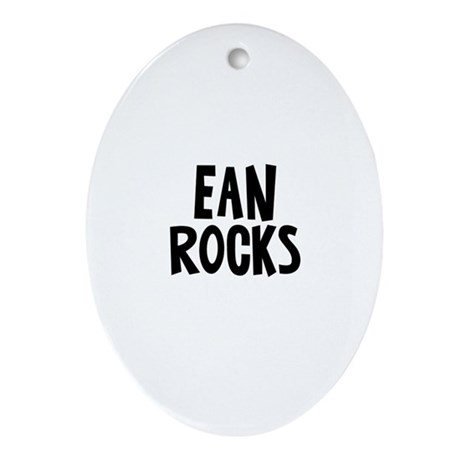 Ean Rocks Oval Ornament