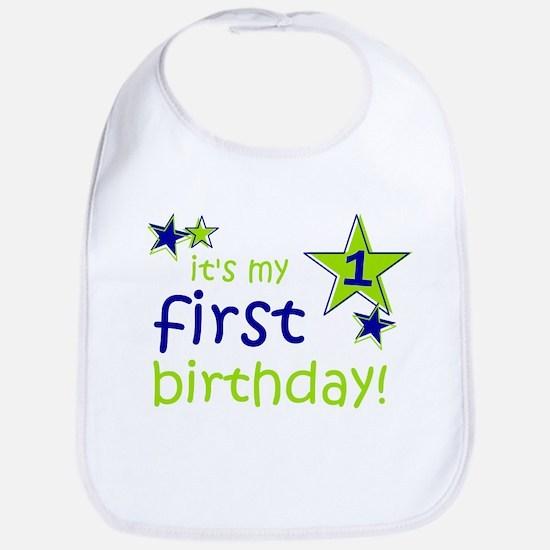 it's my first birthday Bib