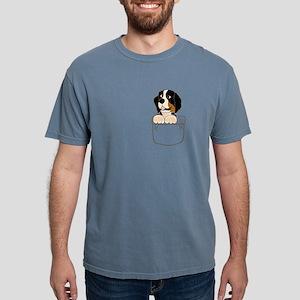 Bernese Mountain Dog in a Pocket T-Shirt