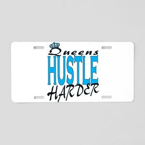 Queens hustle harder Aluminum License Plate