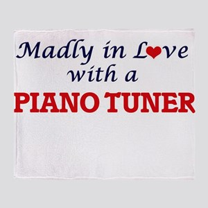 Madly in love with a Piano Tuner Throw Blanket