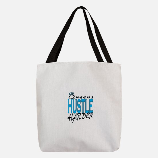 Queens hustle harder Polyester Tote Bag