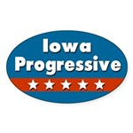 Iowa Progressive Oval Car Sticker