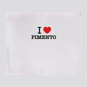 I Love PIMENTO Throw Blanket