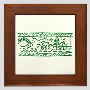 GREEN TRI-BAND Framed Tile