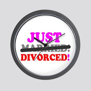 JUST MARRIED - DIVORCED! - Wall Clock