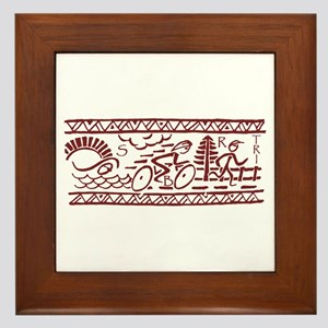 RED TRI-BAND Framed Tile