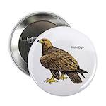 Golden Eagle Bird Button