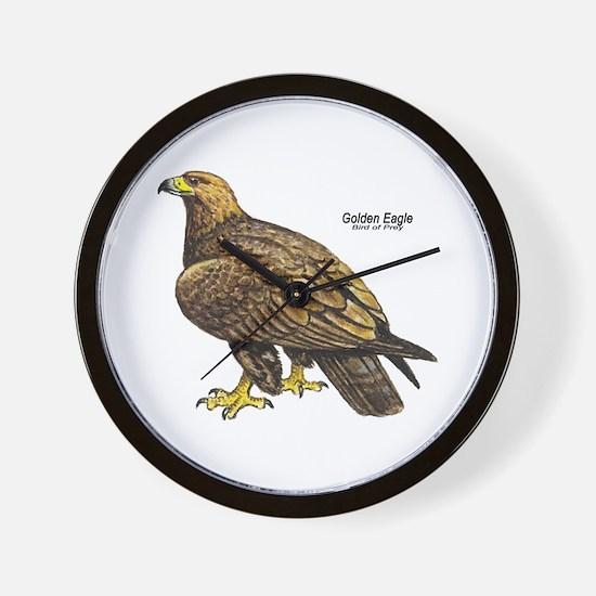 Golden Eagle Bird Wall Clock