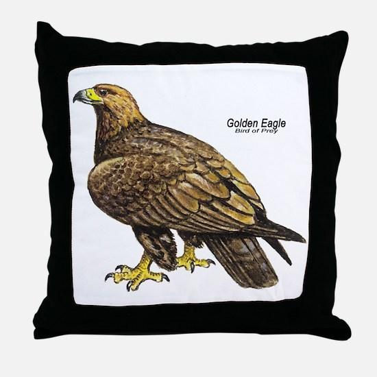 Golden Eagle Bird Throw Pillow