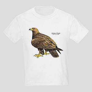 Golden Eagle Bird (Front) Kids T-Shirt