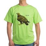 Golden Eagle Bird Green T-Shirt
